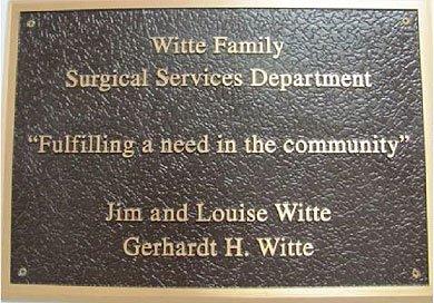 Yoakum Community Hospital Foundation Witte Family Surgery Donation